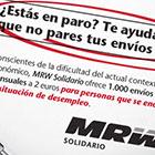 MRW -  MRW lanza un servicio adaptado a las necesidades de los desempleados